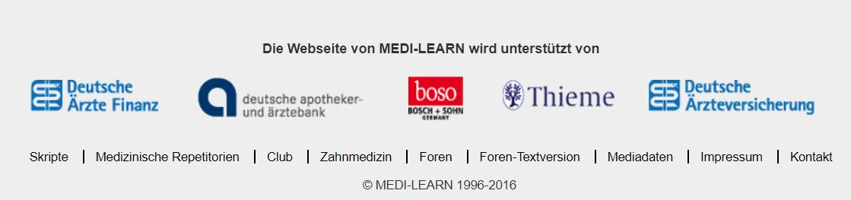Sponsoring von Medi Learn durch Versicherungen