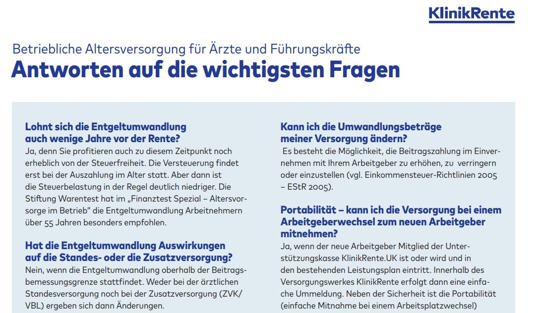 Klinikrente Freiburg Beratung
